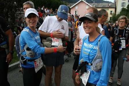 Deb Livingston, Stephanie Ehret, and Peter Bakwin at the start.