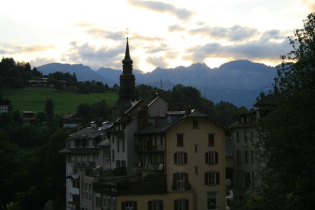 Saint-Gervais was a beautiful village.