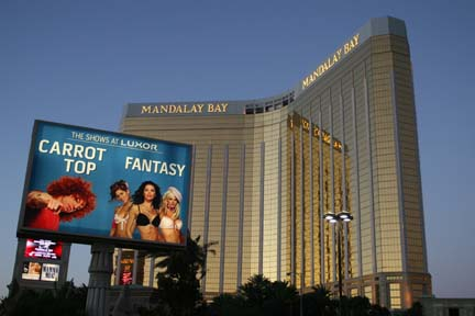 The Mandalay Bay Hotel.