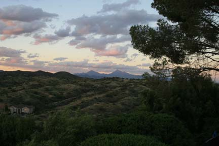 The Santa Rita Mountains stand out in thedistance.