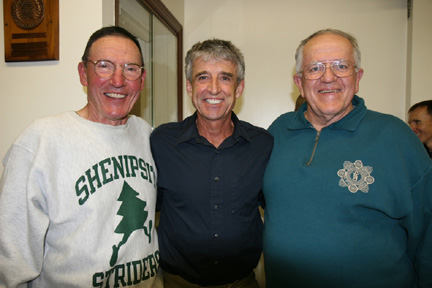 Shenipsit Striders, Willi Friedrich and Tom Curtis, with Frank Shorter.