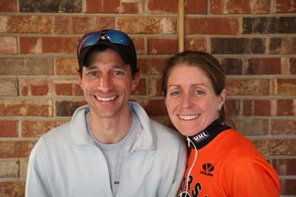 Men's and women's winners: Brett Stoeffler and DebbieLivingston.