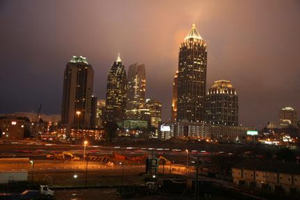 Atlanta's skyline at sunrise during my morning run. It wasn't veryhot!