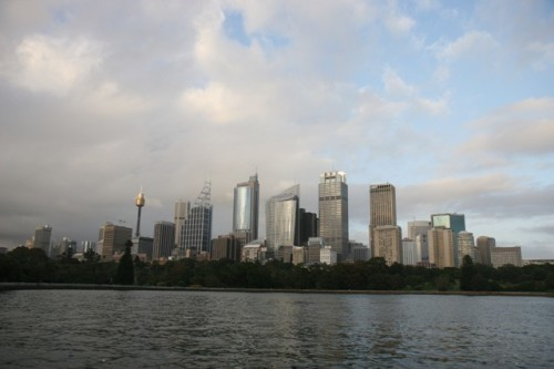 Sydney Central Business District viewed from North Sydney.