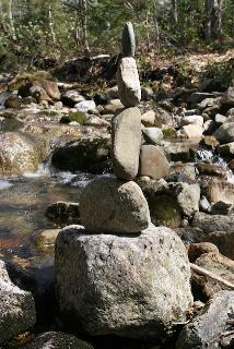 Rock balancing.