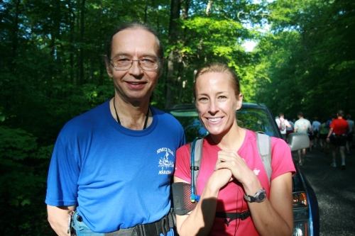 Nipmuck Dave and Michelle Roy before the start.