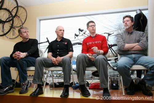 Gary Smith, Ben Serotta, Rob Vandermark, and Bob Parlee