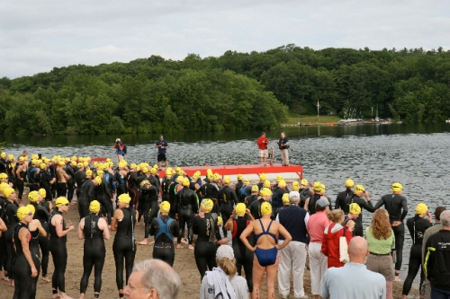 Open water swim.