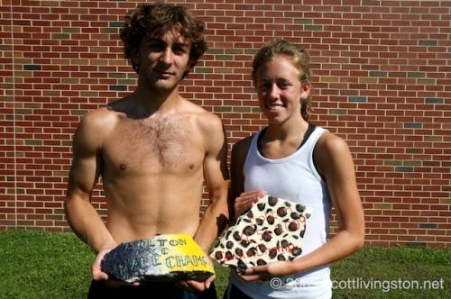 Winners Gavin Harney and Andrea Walsh