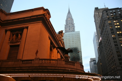 Grand Central Station and the Empire State Building.